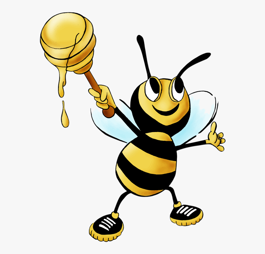 Bee Honey Clipart Drawing Free Cliparts Transparent - Bee And Honey Clipart, Transparent Clipart