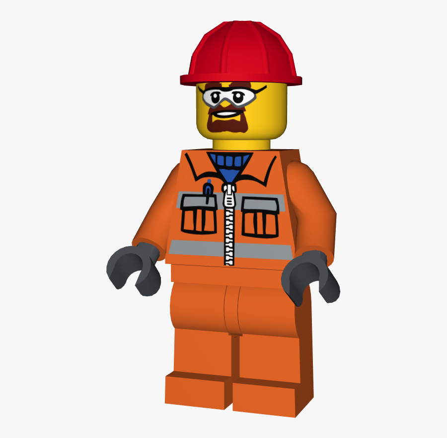 Lego Minifigure Cty0483 Construction Worker Lego Orange Construction Worker Free Transparent Clipart Clipartkey
