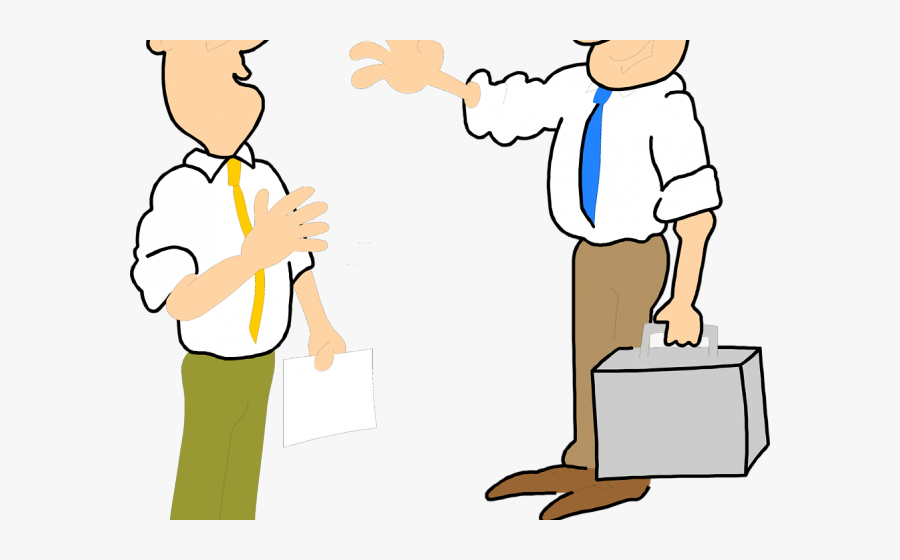 Two People Talking Clipart - People Waving To Each Other Clipart, Transparent Clipart