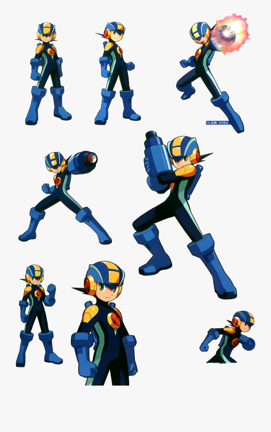 I Cleaned Up The Scan To The Best Of My Ability And - Megaman Battle Network Megaman Official Art, Transparent Clipart