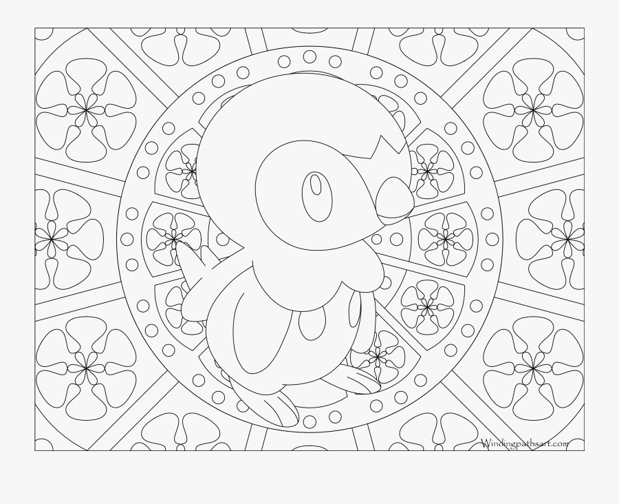 Pokemon Piplup Coloring Pages - Pokemon Celebi Coloring Page, Transparent Clipart