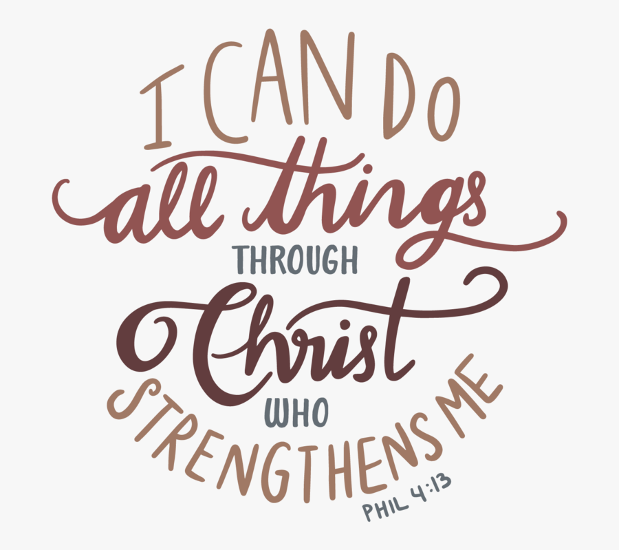 I Can Do All Things Through Christ - Calligraphy, Transparent Clipart