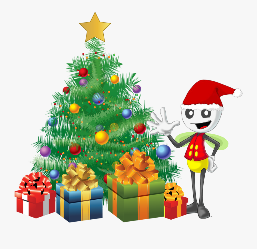 Christmas Tree Watermark - Animated Christmas Tree With Gifts, Transparent Clipart