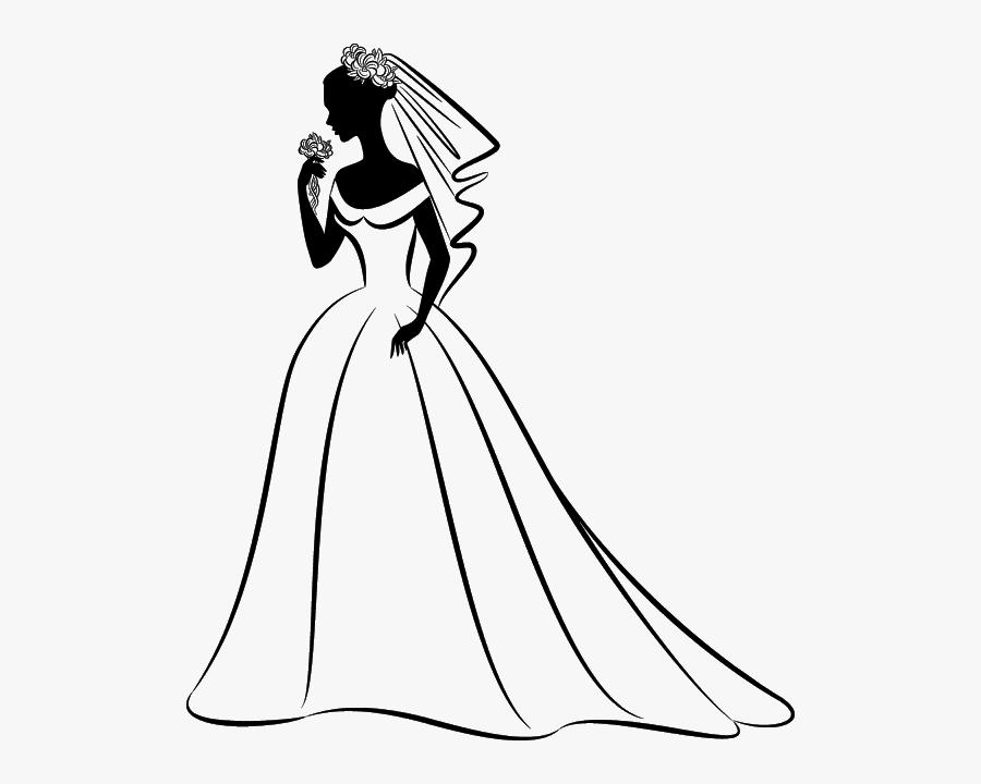 Bride Wedding Clip Art - Wedding Dress Clipart, Transparent Clipart