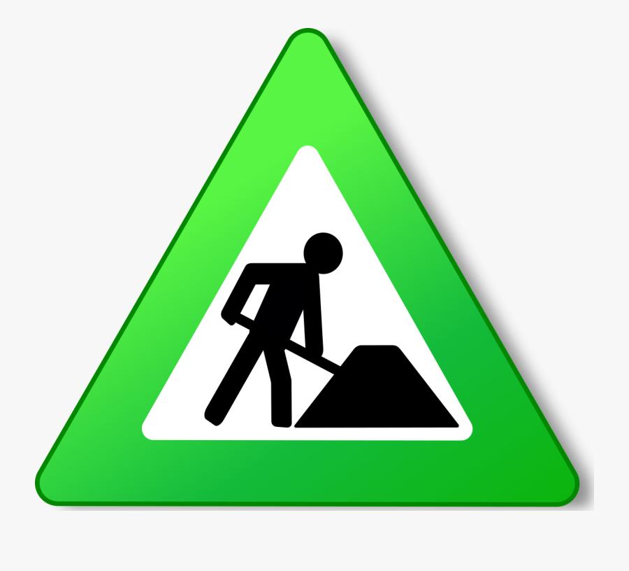 Clip Art Trails Parks Department Please - Road Signs Road Works, Transparent Clipart