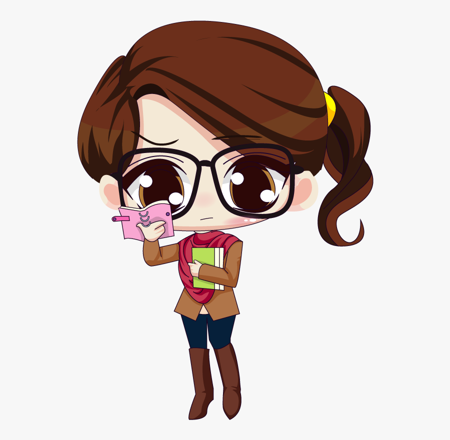 Brown Haired Girl Cartoon Characters Free Transparent Clipart Clipartkey