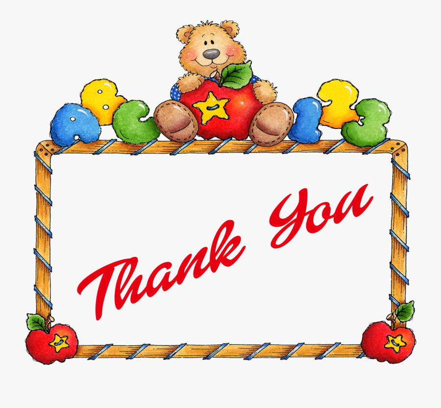 Thank You Png Image File - Teddy Bear Border Clip Art, Transparent Clipart