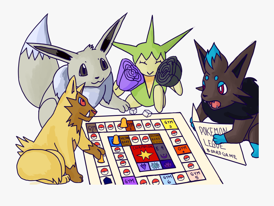 Board Games Drawing At - Pokemon Playing Board Games, Transparent Clipart