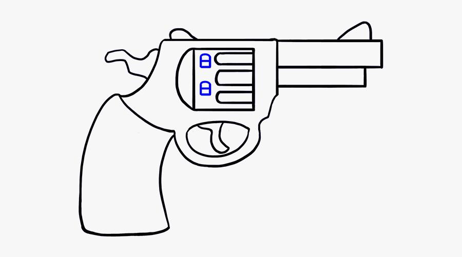 Criminal Clipart Line Up - Cartoon Gun Drawing Easy, Transparent Clipart