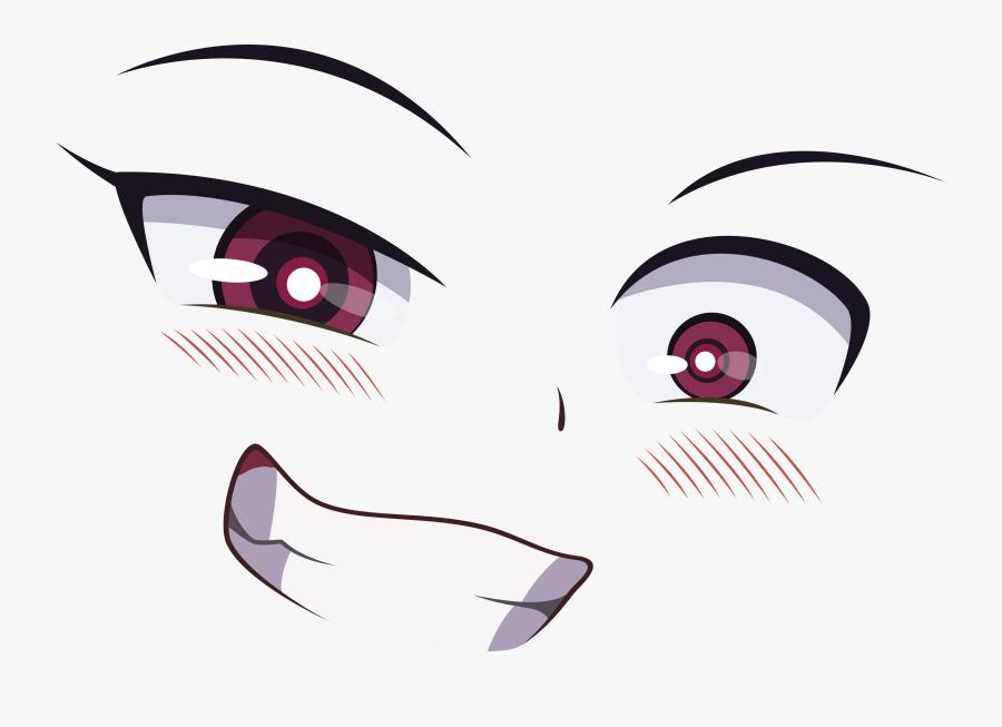 Eye Face Eye Nose Facial Expression Eyebrow Purple - Anime Face, Transparent Clipart