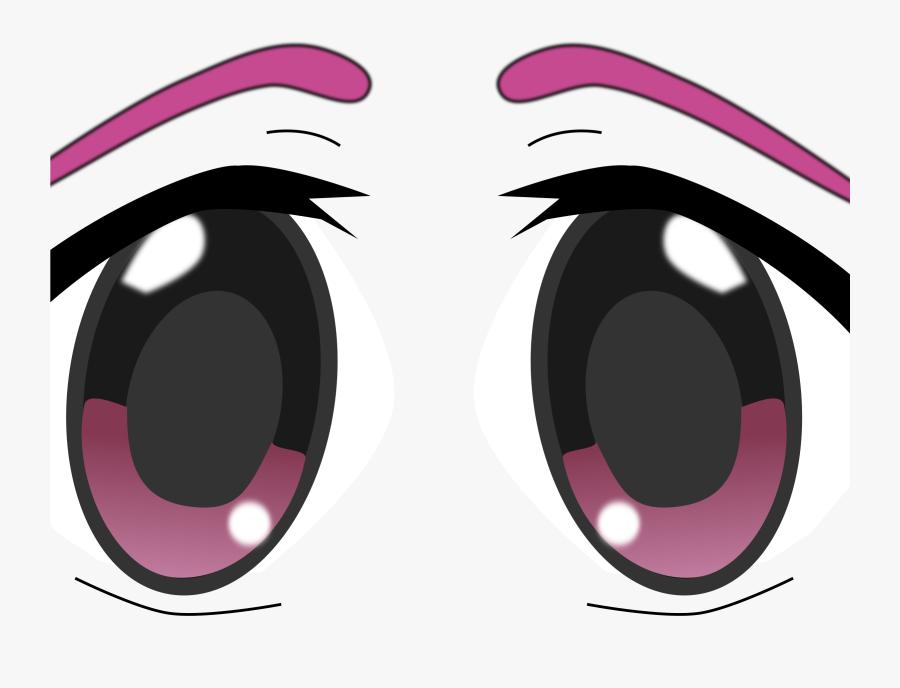 Eye Clip Big Big Anime Eyes Transparent Free Transparent