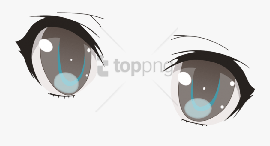Transparent Anime Eyes - Anime Eyes Transparent Background, Transparent Clipart