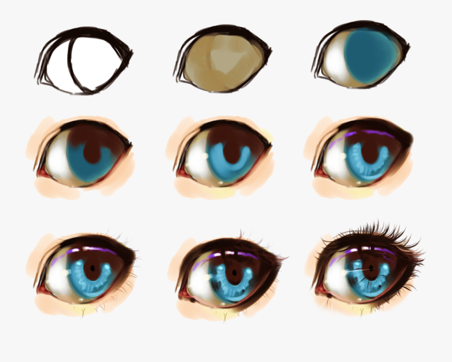 Clip Art Some Help For Drawing - Anime Eyes Digital Art, Transparent Clipart