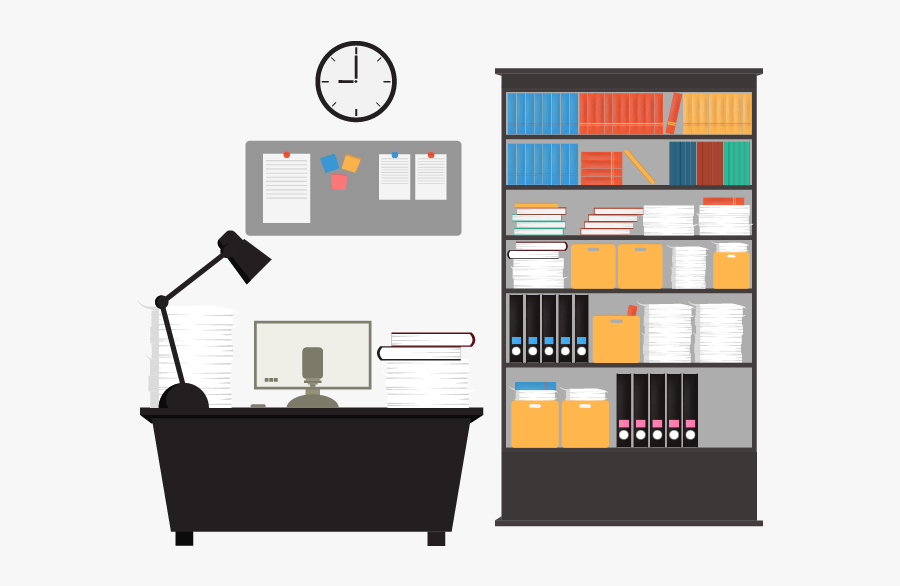 Vector Offices Office Interior - Vector Graphics, Transparent Clipart