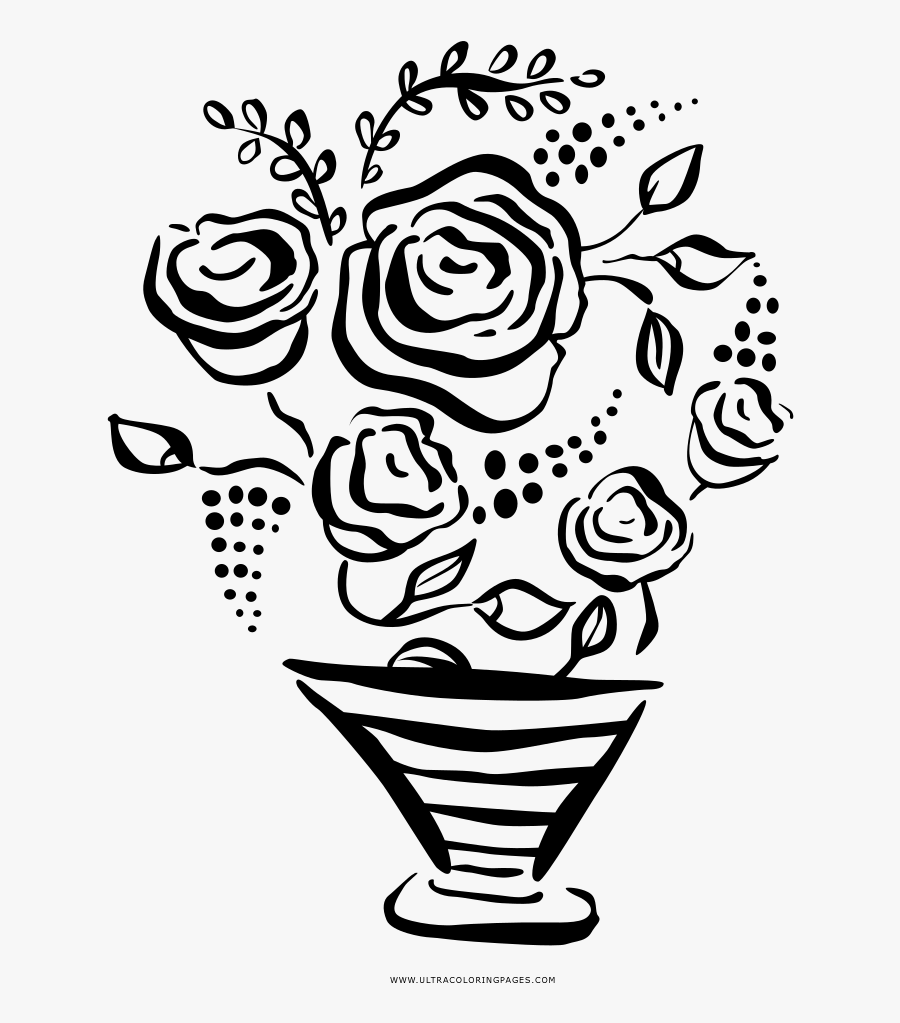 Bouquet Coloring Page - Soy Ice Cream, Transparent Clipart