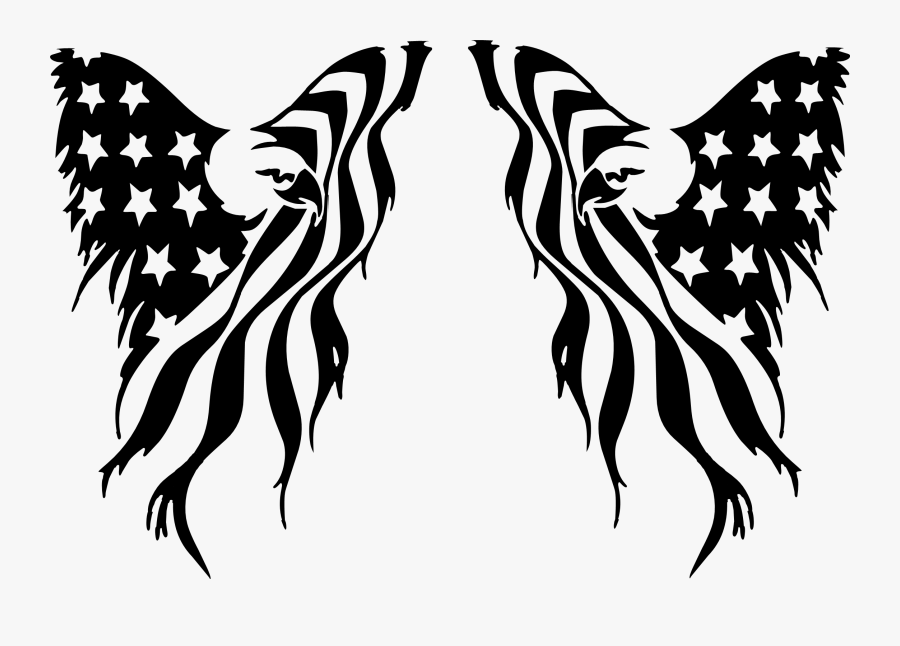 Eagle With Flag Svg, Transparent Clipart