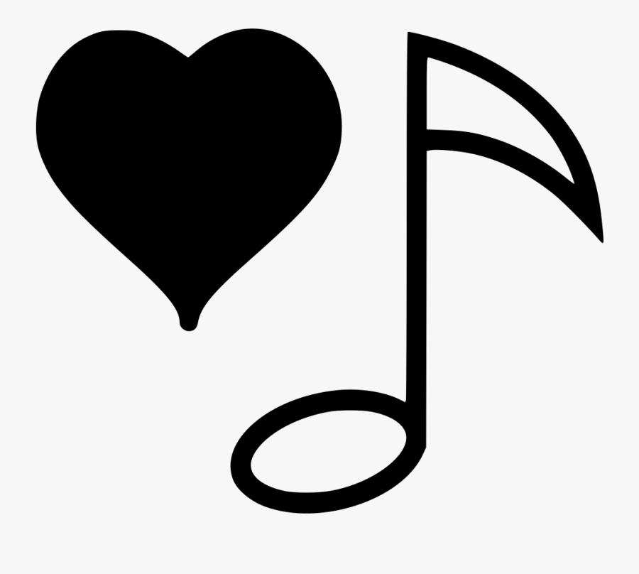 Music Heart - Heart, Transparent Clipart