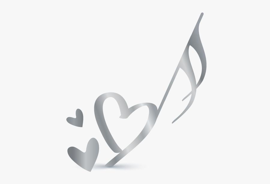 Transparent Background Heart Clipart Heart Music Note, Transparent Clipart