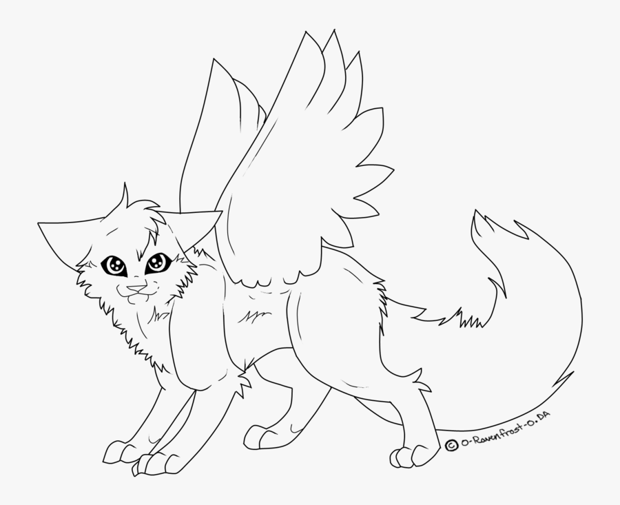 Cat Line Drawing Black And White, Transparent Clipart