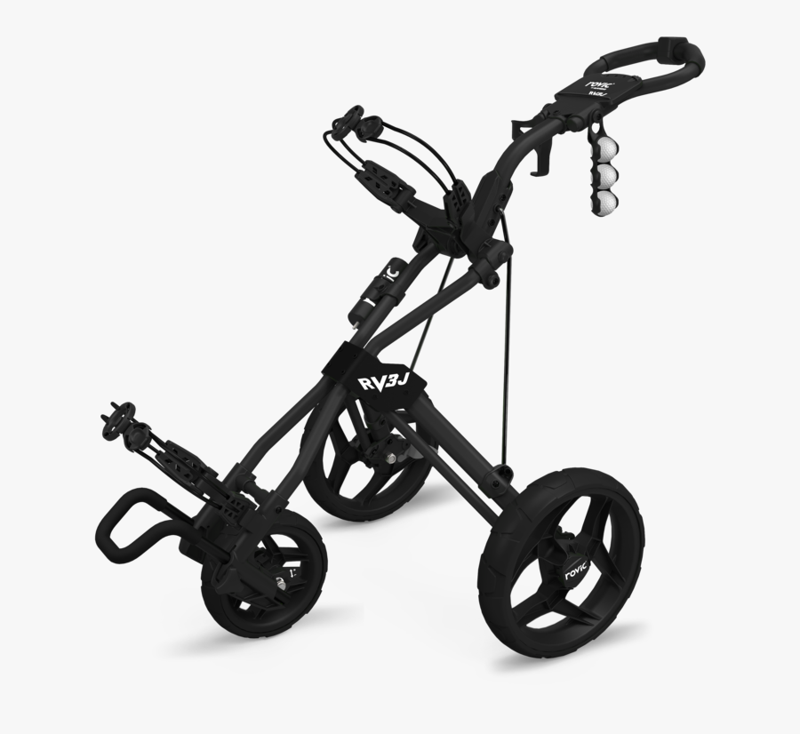 Rovic Rv3j Golf Push Cart - Youth Golf Bag Cart, Transparent Clipart