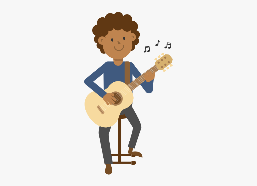 Man Playing Guitar Clipart, Transparent Clipart