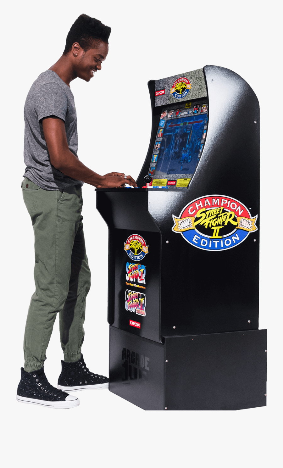 """Street Fighter Arcade Cabinet""""  Class=""""lazyload Lazyload - One Up Arcade Street Fighter, Transparent Clipart"""