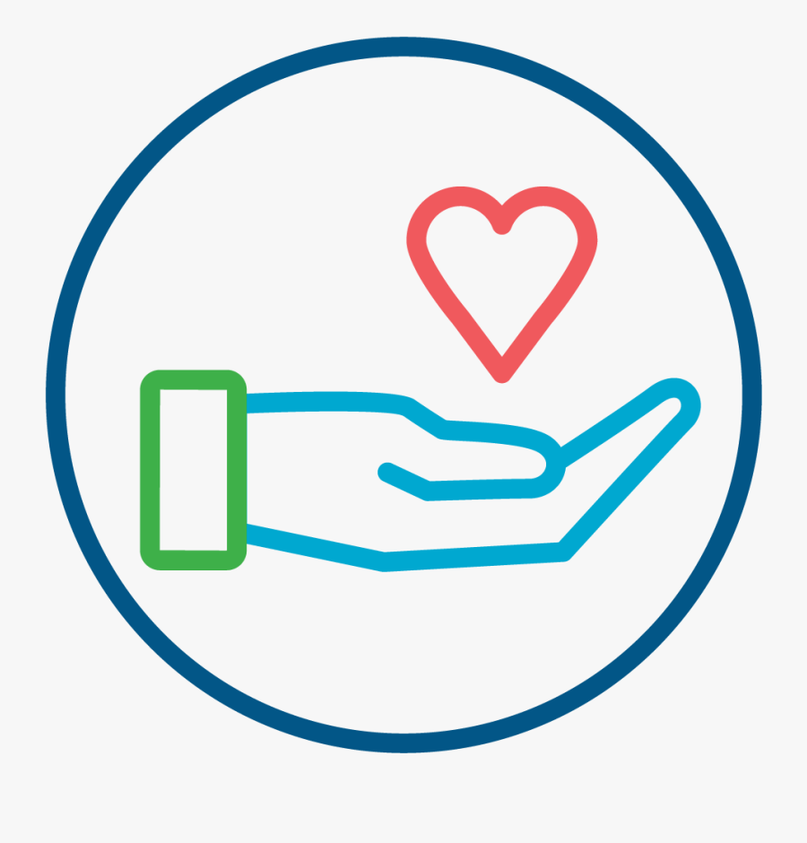 Hand Holding Heart Symbolizing Gift Of Salvation Icon - Hand Holding Heart Clip Art, Transparent Clipart