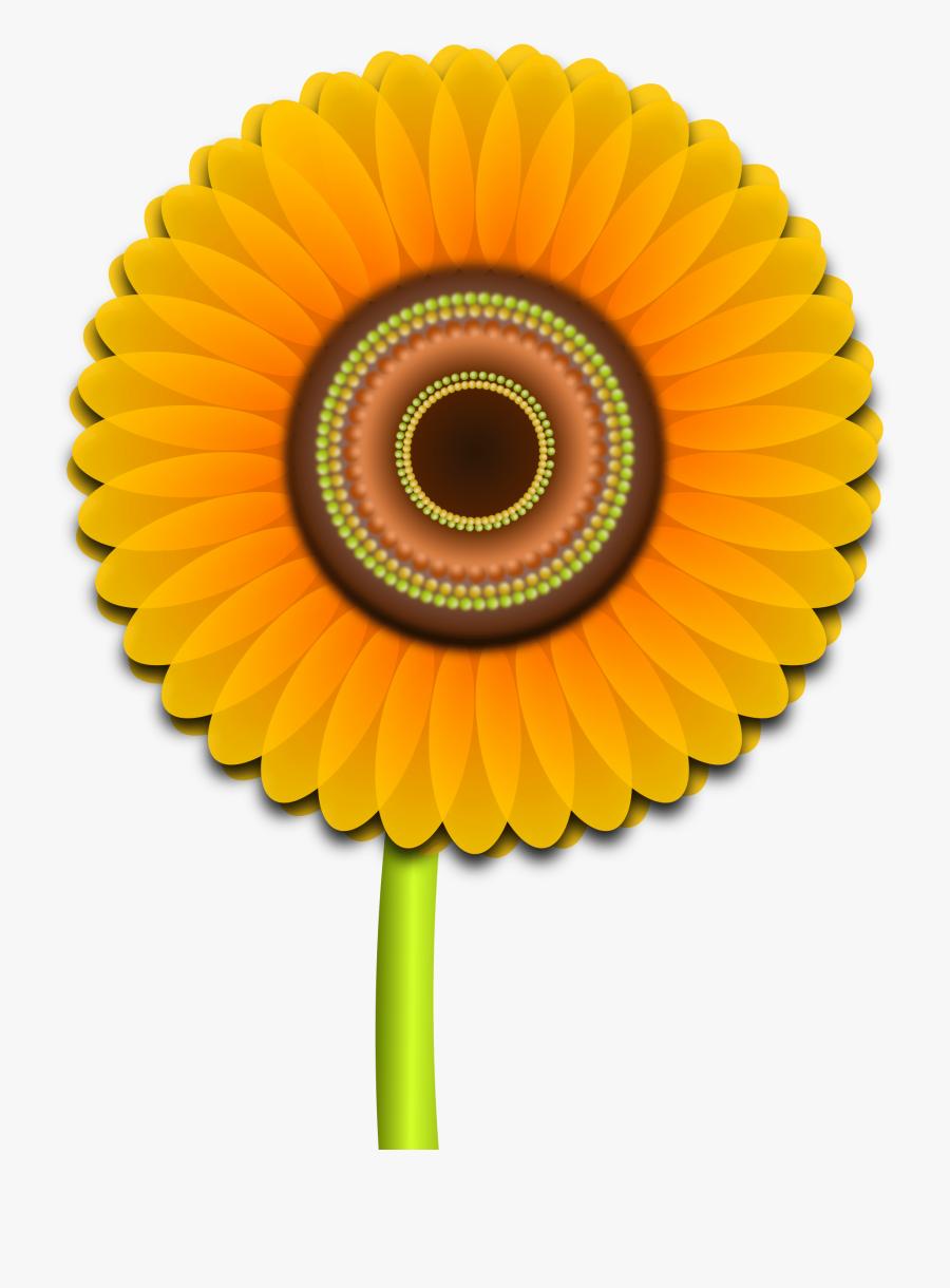 Sun Flower Clip Art Rd, Transparent Clipart