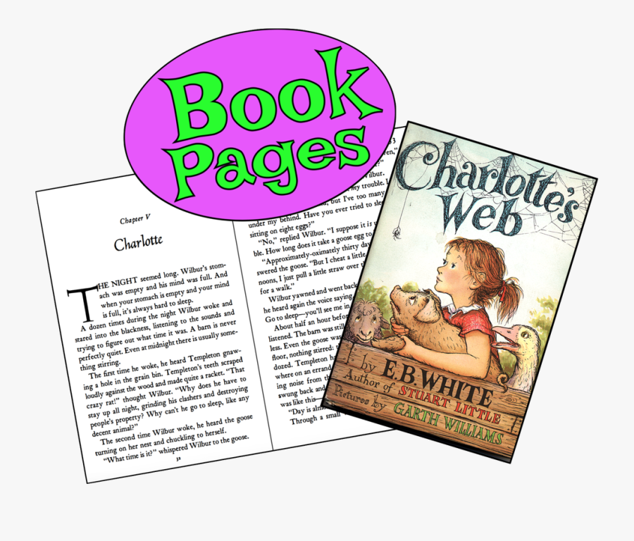 Picture - Charlotte's Web Book Cover, Transparent Clipart