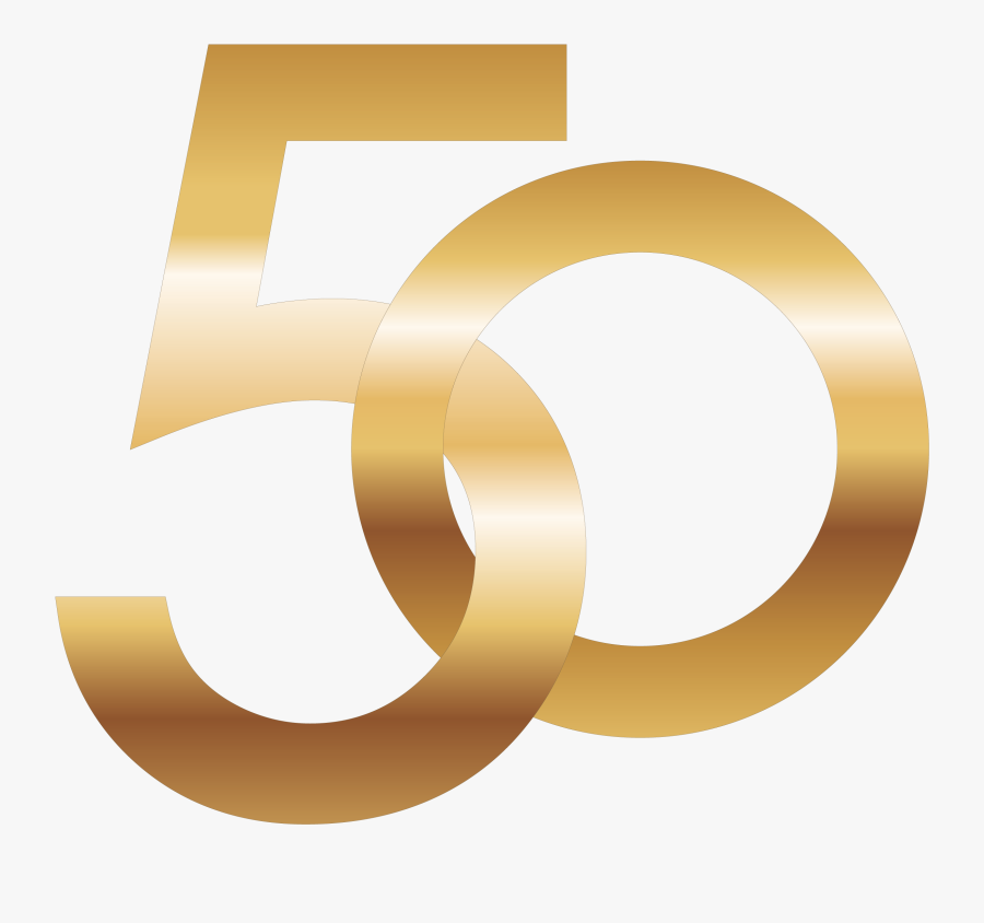 50 Number Png Image - Number 50 Gold Png , Free