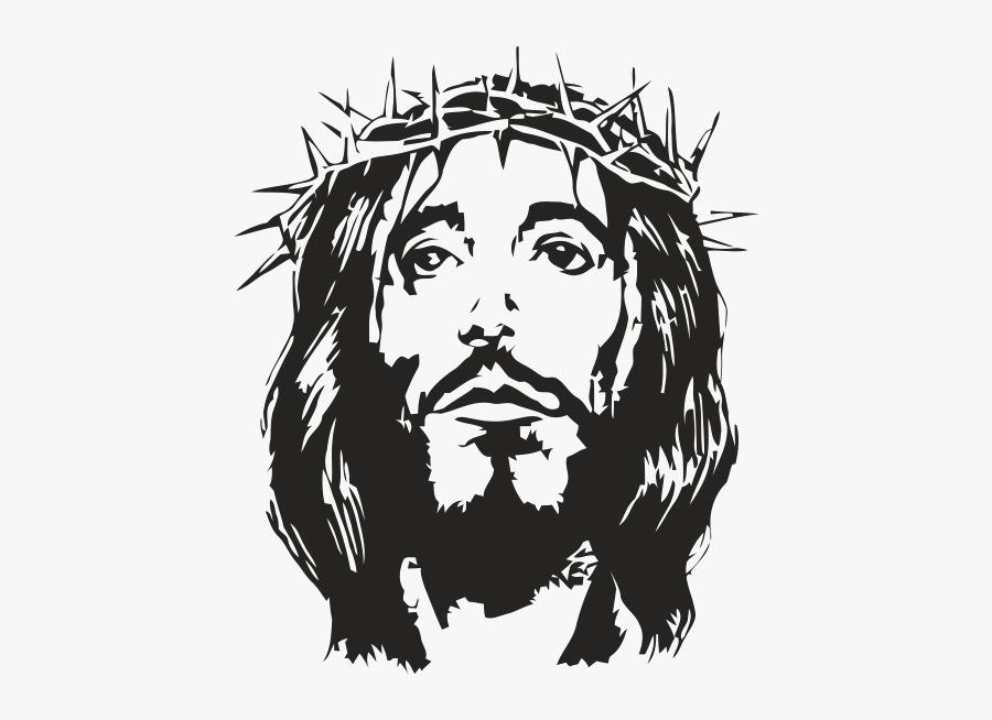 Crown Of Thorns Christianity Christian Cross Holy Face - Szablony Jezusa W Drewnie Do Wycinania, Transparent Clipart