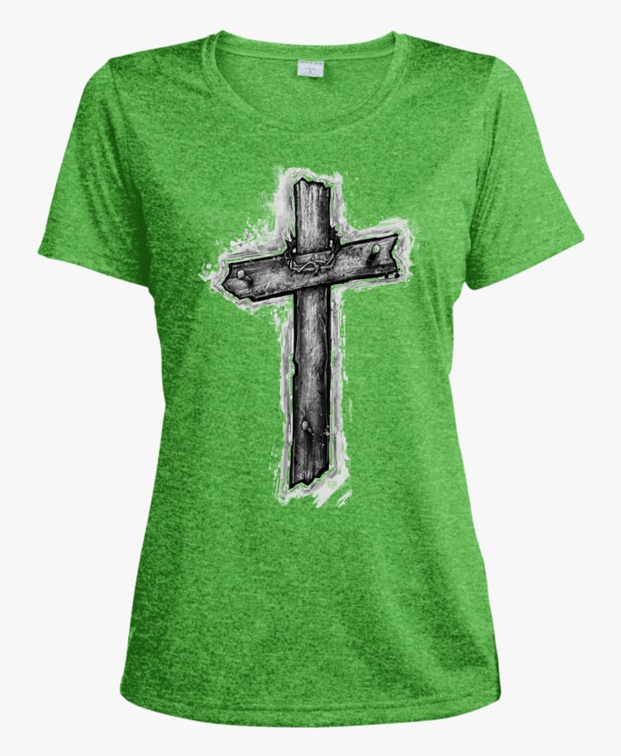 Jesus On Cross Png -christ Cross Ladies - T-shirt, Transparent Clipart