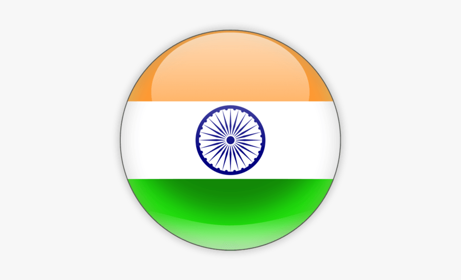 Icon India Flag - India Flag Circle Png, Transparent Clipart