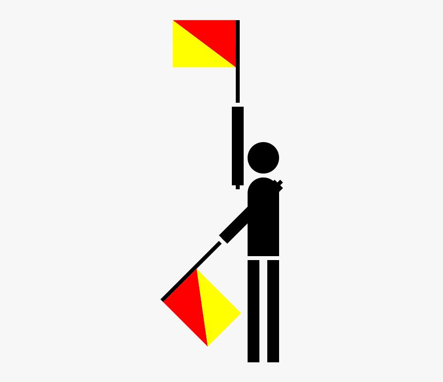 Semaphore India - Semaphore Flag Drawing, Transparent Clipart
