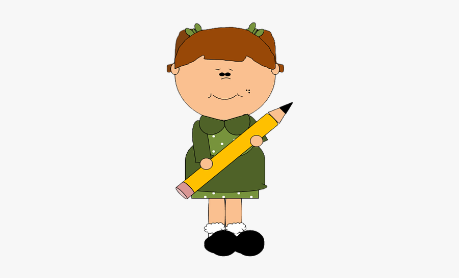 Girl, Child, Pencil, Childhood, Kid, Cute, Young - Never Say I Can T Always Say, Transparent Clipart