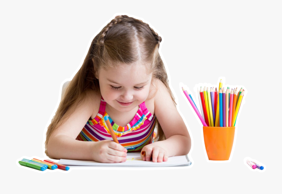 Kid Writing Png - Indian Kid Writing, Transparent Clipart