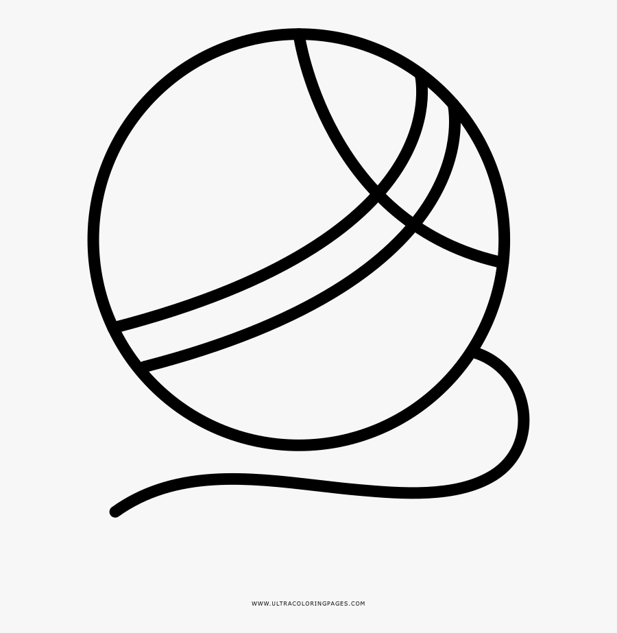 Yarn Coloring Page - Line Art, Transparent Clipart