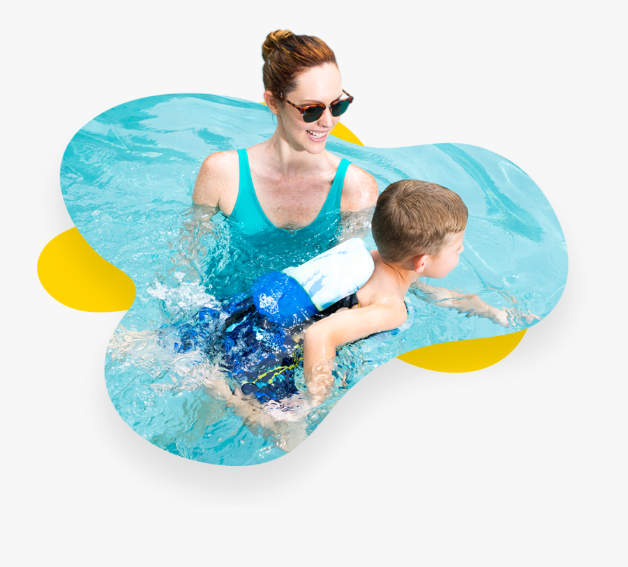 Fun Swimming Transparent Images - Swimming Pool People Png, Transparent Clipart