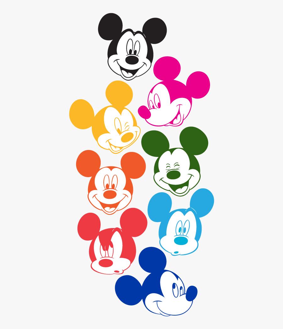 Clip Art Plano De Fundo Minnie - Mickey Mouse Different Colors, Transparent Clipart