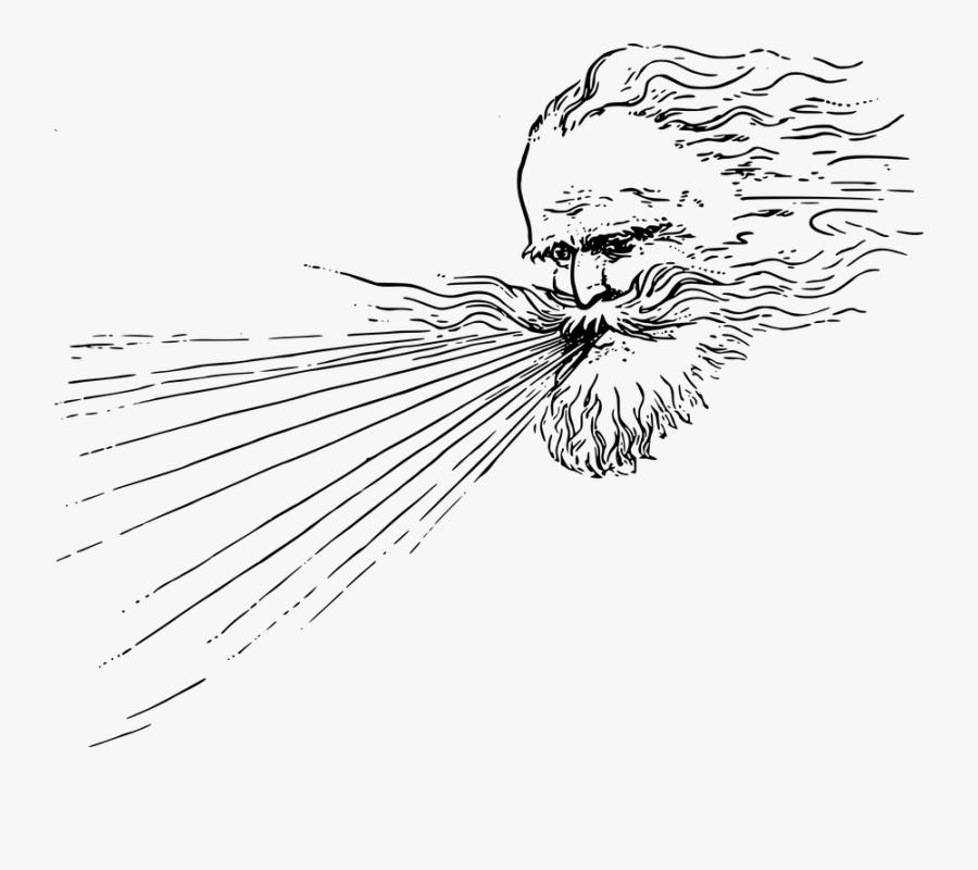 God Blowing Wind, Transparent Clipart