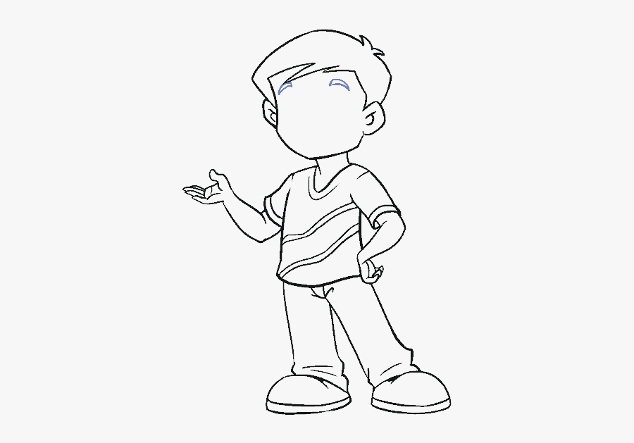 How To Draw Boy - Cartoon Boy Drawing Easy, Transparent Clipart