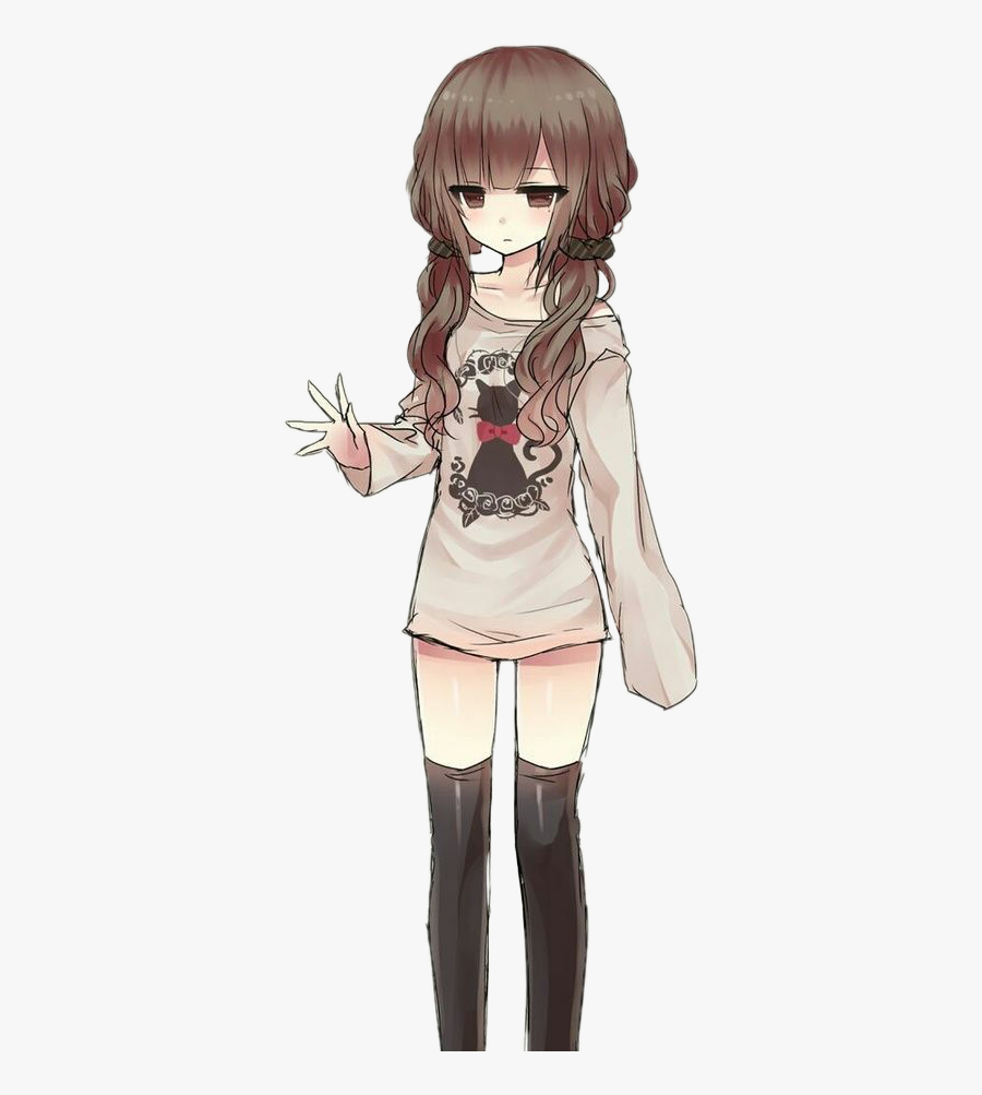 Female Brown Hair Anime Transparent Cartoons Cute Tomboy Anime Girl Free Transparent Clipart Clipartkey