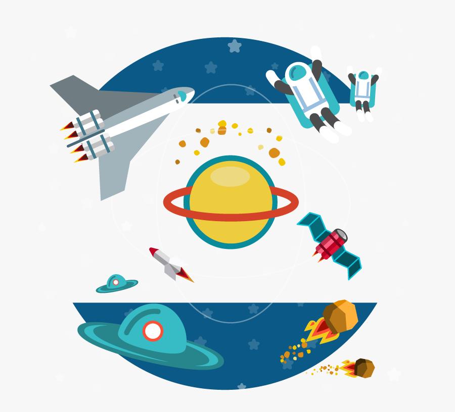 Euclidean Vector Outer Aerospace Space Free Hq Image - Imagenes De Satelites Animados Png, Transparent Clipart