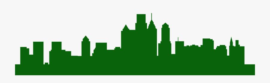 Transparent Philadelphia Skyline Silhouette, Transparent Clipart