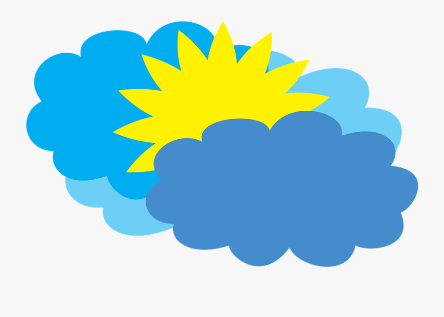Cloudy Weather Forecast Partly Cloudy Clipart , Png - Cloudy Weather Cartoon, Transparent Clipart