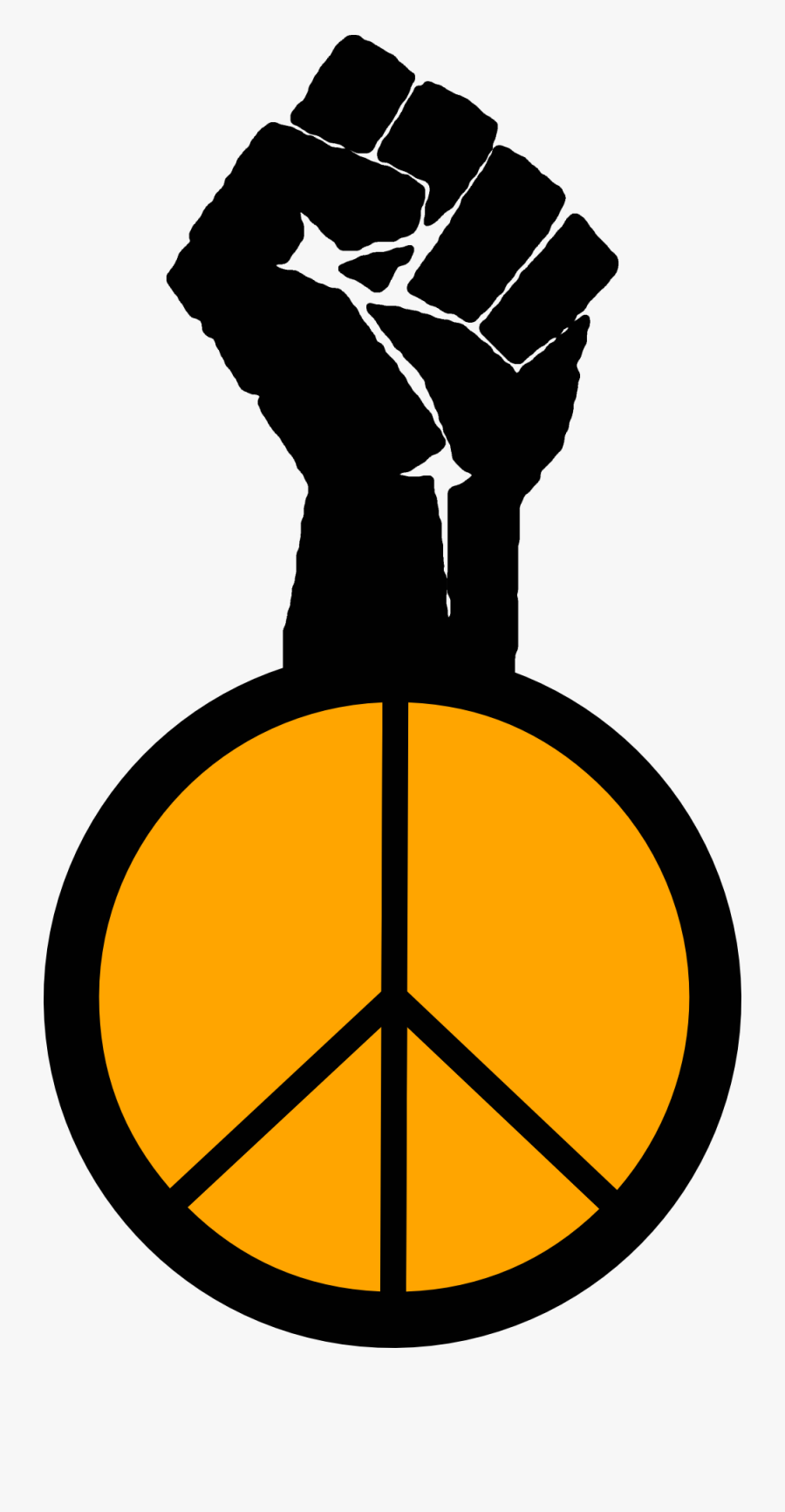 Occupy Wall Street Fight The Power Peace To The People - Social Justice Clip Art, Transparent Clipart