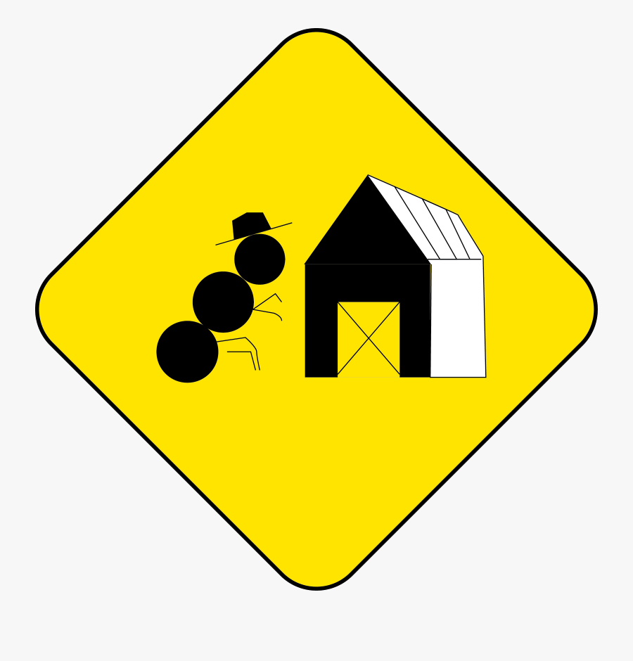 Guarded Level Crossing Sign, Transparent Clipart