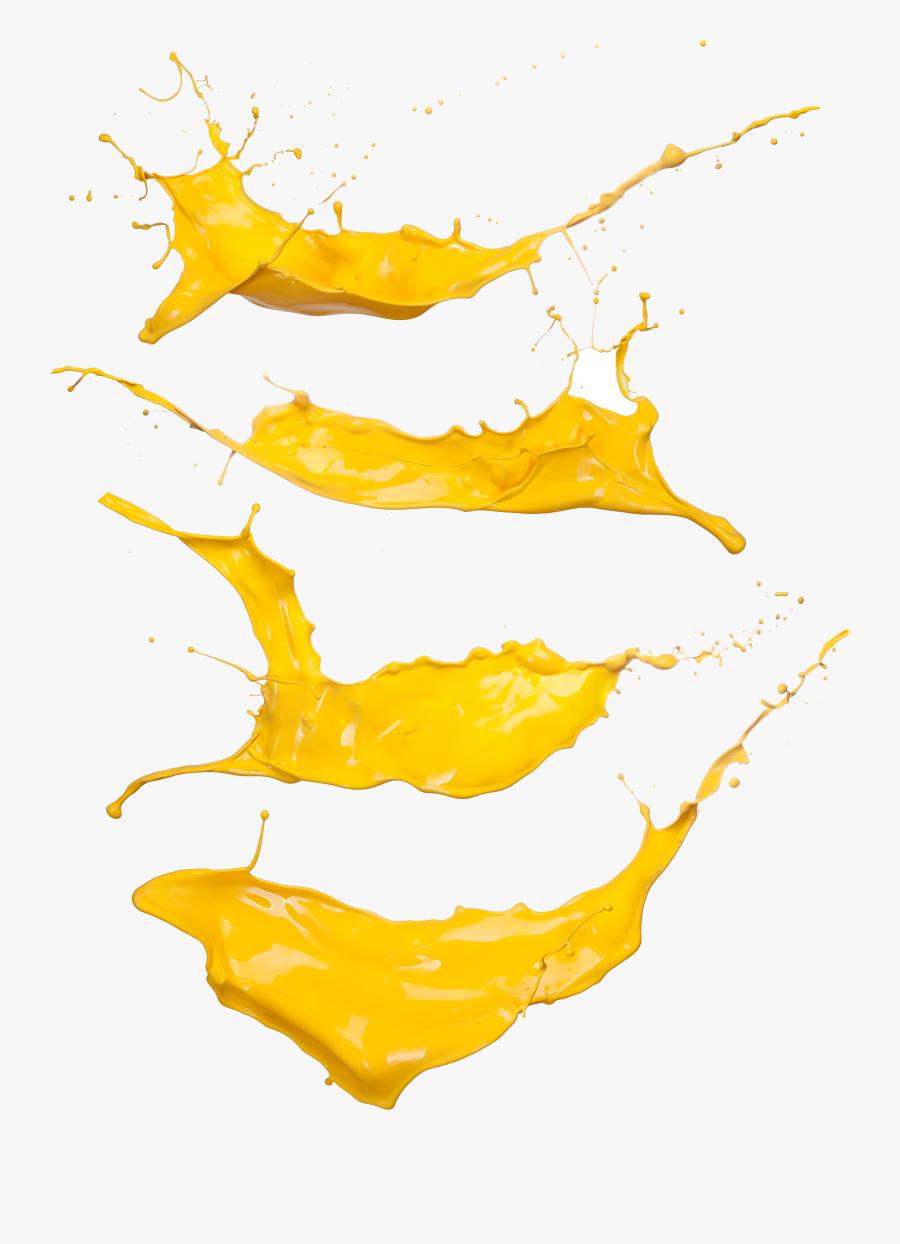 Paint Photography Texture Juice Splash Yellow Stock - Juice Splash Png, Transparent Clipart