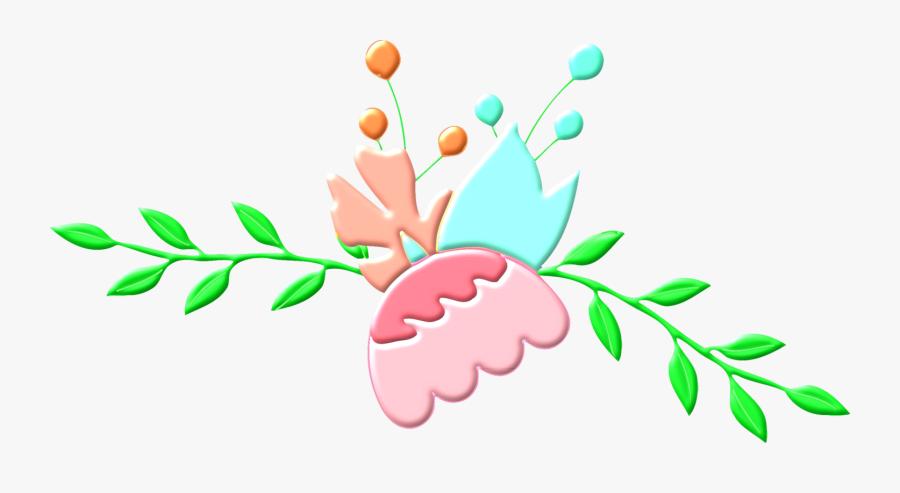 Plant,flower,leaf - Shabby Chic Floral Clip Art, Transparent Clipart