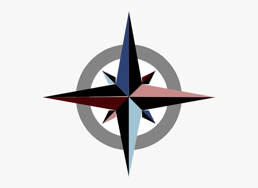 Source - Www - Clker - Com - Report - Simple Compass - North Clipart, Transparent Clipart